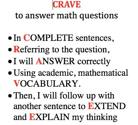CRAVE great math conversations